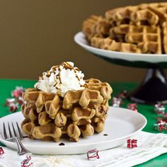 Gingerbread Waffles HealthyAperture.com