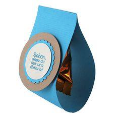 Gastgeschenk Banderole in Blau mit Schriftzug Schön, dass du mit uns feierst!.