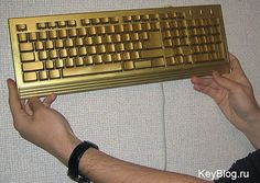 Golden keyboard award given to the top student at the end of the year