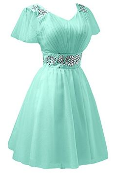 Sunvary Fancy Short Sleeves Tulle Bridesmaid Party Dress Mini Cocktail Homecoming Gowns for Girls Sweety 16 Pageant US Size 14- Mint Sunvary http://www.amazon.com/dp/B00MXVBEK4/ref=cm_sw_r_pi_dp_0Rjmub0VPBZQZ