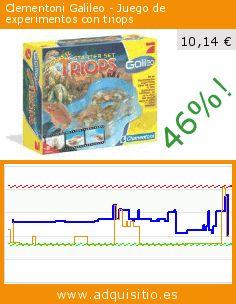 Clementoni Galileo - Juego de experimentos con triops (Juguete). Baja 46%! Precio actual 10,14 €, el precio anterior fue de 18,77 €. https://www.adquisitio.es/clementoni/696949-galileo-kit