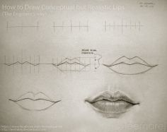 51 Best Lips Drawings Tutorials Studies Images Drawing Techniques