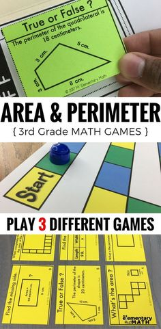 Area and perimeter games for your 3rd grade students are a fun alternative to worksheets. Check out these 3 math games that are great for your 3rd grade math centers.