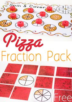 Free Pizza Fraction Printable Activities for Equivalent Fractions via @lifeovercs