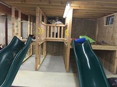 Working on ours right now! Should be finished up just in time for Christmas. This is in our basement and will be the perfect space for the kids to play! Indoor Gym, Cool Kids Rooms, Awesome Bedrooms, Closet Organization, Playroom, Basement, House Renovations, Cool Stuff, Type 3
