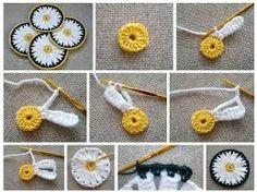Resultado de imagen para crochet flores patrones margaritas