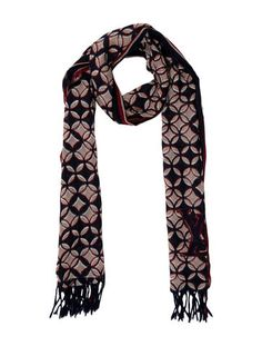 Louis Vuitton Wool Silk-Blend Fleurs Scarf