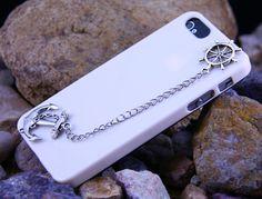 iphone 5 Case Sailor Anchor Helm Silver DIY Ihone 5 Case