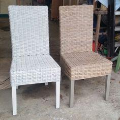 Rieten stoelen verven