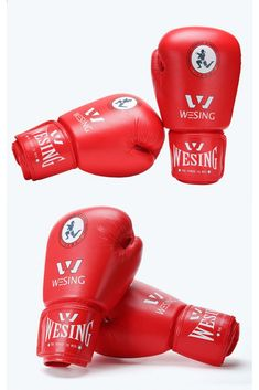 Wesing boxing gloves professional Adult Unisex Sparring Gloves PU leather 10OZ
