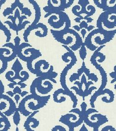 Home Decor Print Fabric-Waverly Luminary Indigo at Joann.com $15 sale