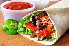Portobello And Black Bean Burritos
