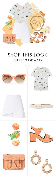 """""""Just Peachy #2"""" by florymcintee ❤ liked on Polyvore featuring WALL, Linda Farrow, Être Cécile, WÃ¥ven, Michael Kors, Cotélac, The Cambridge Satchel Company and Tory Burch"""