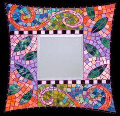 mosaic picture frame | Tamaris Landsman creator of fine art mosaics mirror frames