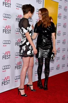 "Kristen Stewart Photos - Actresses Kristen Stewart (L) and Julianne Moore attend a special screening of ""Still Alice"" during the AFI FEST 2014 presented by Audi at Dolby Theatre on November 12, 2014 in Hollywood, California. - AFI FEST 2014 Presented By Audi Special Screening Of ""Still Alice"" - Red Carpet"