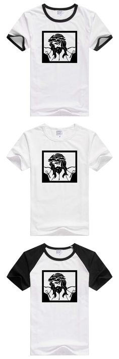 FOR Jesus Christ portrai short sleeve casual men T-shirt Comfortable tee funny design GA240