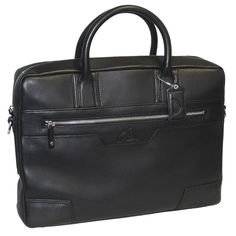 This stylish briefcase has a very sleek look for the office or classroom. The handles and shoulder strap make it convenient to carry when traveling and the slim body gives it a sophisticated style.