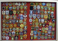 police patch display board