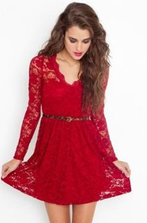 red lace dress = sexy