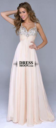 2015 prom dress, sweetheart V Neckline Beaded chiffon evening dress for teens, ball gown, formal dress #promdress #formaldress