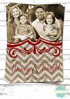 Merry and Bright - A Photo Christmas Card