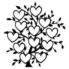 54 Super Ideas For Family Tree Silhouette Cameo Etsy Family Tree Drawing, Family Tree Art, Tree Silhouette, Silhouette Design, Family Tree Designs, Stencils, Tree Clipart, Trendy Tree, Silhouette Cameo Projects