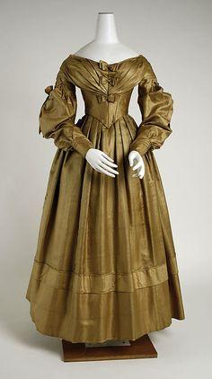 Dress  Date: 1838 Culture: American Medium: silk