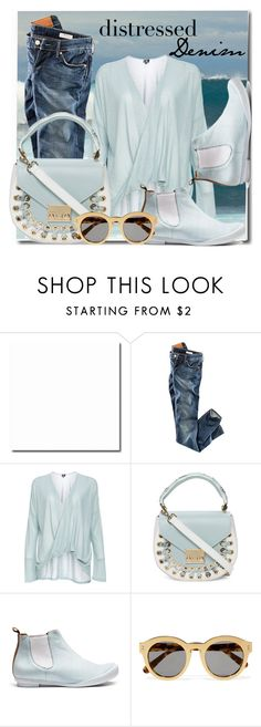 """Ocean denim"" by interesting-times ❤ liked on Polyvore featuring H&M, DailyLook, TRACEY NEULS, STELLA McCARTNEY and distresseddenim"