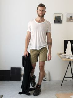 Super simple. The boots are a nice touch and those shorts will have to be longer. lol The Homme Depot