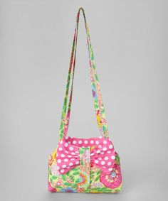 Look what I found on #zulily! Hot Pink Floral Bow Crossbody Bag #zulilyfinds