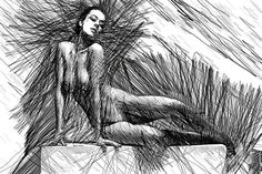 Female Pose For Studio Drawing 1447 Digital Art by Rafael Salazar