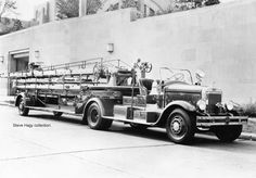Cincinnati, OH FD Truck 1 1934 Mack 85' Aerial Shop #25201 Serial #6 BQ 6 S 1011