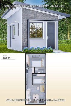Little House Plans, Small House Floor Plans, New House Plans, Modern House Plans, Simple House Design, Tiny House Design, Modern House Design, 2 Bedroom House Design, Small House Layout