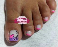 Pretty Pedicures, Pretty Toe Nails, Cute Toe Nails, Pretty Toes, Pedicure Nail Art, Pedicure Designs, Toe Nail Designs, Acrylic Nail Art, Toe Nail Art