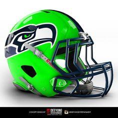 NFL Concept Helmets by Imgur | Seattle Seahawks