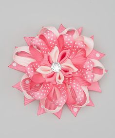 Another great find on #zulily! Pink Layered Flower Hair Clip by Bubbly Bows #zulilyfinds