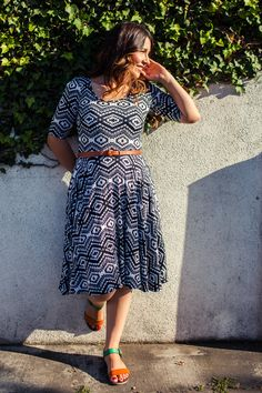 """LulaRoe geometric """"nicole"""" dress.  http://www.lularoe.com - love this dress paired with a belt and sandals"""
