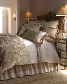 """Hyde Park"" Bed Linens by Isabella Collection at HORCHOW.  SOOOO BEAUTIFUL!!"
