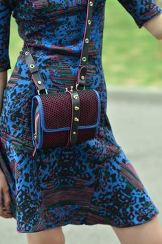 #MMissoni   Jacquard Animalier blue dress   Winter 2013-14 Collection
