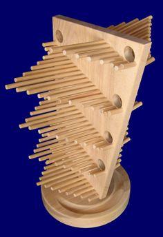 (Asahikawa, Hokkaido Miura wooden base workshop) [toys] Monuments ripples Large 38,880 yen (260 × 210 × 390mm)