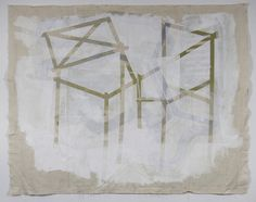 Sheron Butler, 2013 Pigment and silica binder, pencil, on unstretched canvas 72 x 84 inches