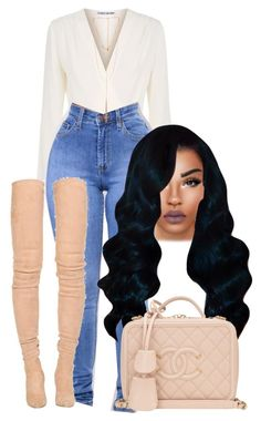 """Untitled #50"" by jahnaetakeoveer ❤ liked on Polyvore featuring Elizabeth and James, Ettika, Balmain and Chanel"