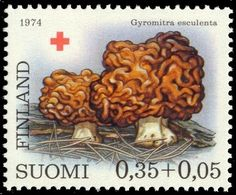 Red Cross 1974 - Mushrooms 1/3 Morel, y paper - Click Image to Close