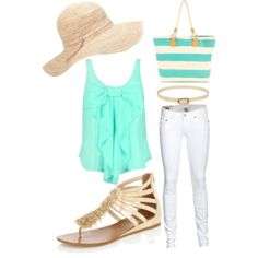 Cute summer outfit , just not the hat . :)