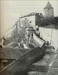 staré zámecké schody pražský hrad