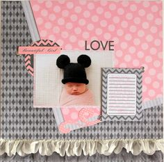Beautiful Girl #Moxxie Tiny Dancer Layout - Scrapbook.com