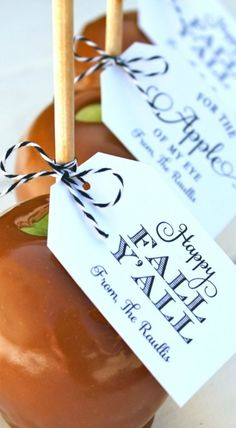 Caramel Apples and Free Fall Printables