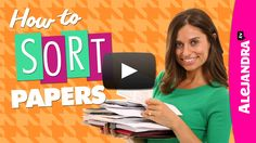 Oh, how I need help with this in my office.[VIDEO]: How to Sort Papers (Paper Organizing Tips Part 1 of Organisation Hacks, Organizing Paperwork, School Supplies Organization, Clutter Organization, Home Office Organization, Organizing Tips, Organizing School, Office Supplies, Secret Organizations