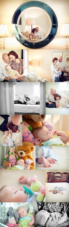 Love everything about this casual newborn session at home!