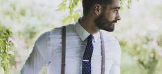 Leuke combi van stropdas en bretels.